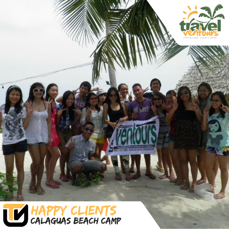 Customer of Travel ventours enjoying calaguas