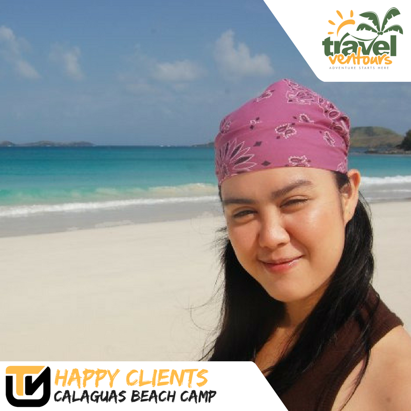 Happy client of Travel ventours in Calaguas